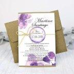 Invito a nozze orchidee viola, Cardnovel 32635 completo