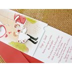 Wedding Invitation in My Arms, Cardnovel 32708 Open