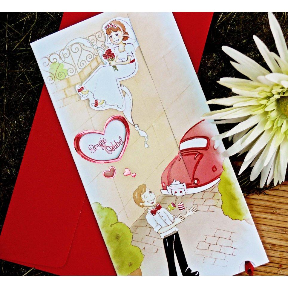 Hochzeitseinladung in meinen Armen, Cardnovel 32708