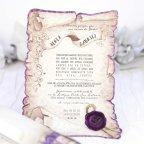 Purple Papyrus Wedding Invitation, Cardnovel 39215 Card