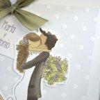 Invitación de boda abrazo, Cardnovel 39217 novios