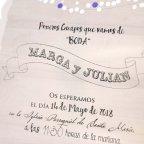 Invitación de boda cofre, Cardnovel 39237 texto