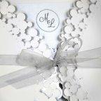 Invitación de boda lazo gris, Cardnovel 39233 detalle