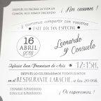 Wedding Invitation on Grey, Cardnovel 39231 text
