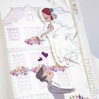 Hochzeitseinladung in meinen Armen, Cardnovel 39230 Braut und Bräutigam