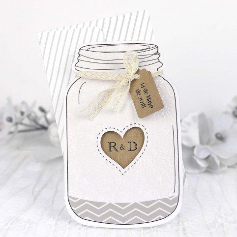 Jar Hochzeitseinladung, Cardnovel 39229
