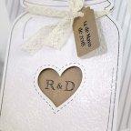Hochzeitseinladungsglas, Cardnovel 39229 Herz